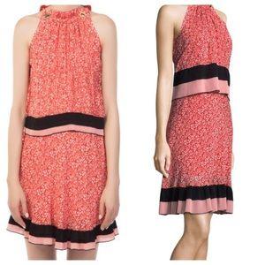 Derek Lam 10 Crosby Silk Tiered Halter Dress
